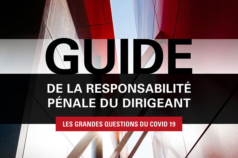 GUIDE DE LA RESPONSABILITÉ PÉNALE DU DIRIGEANT