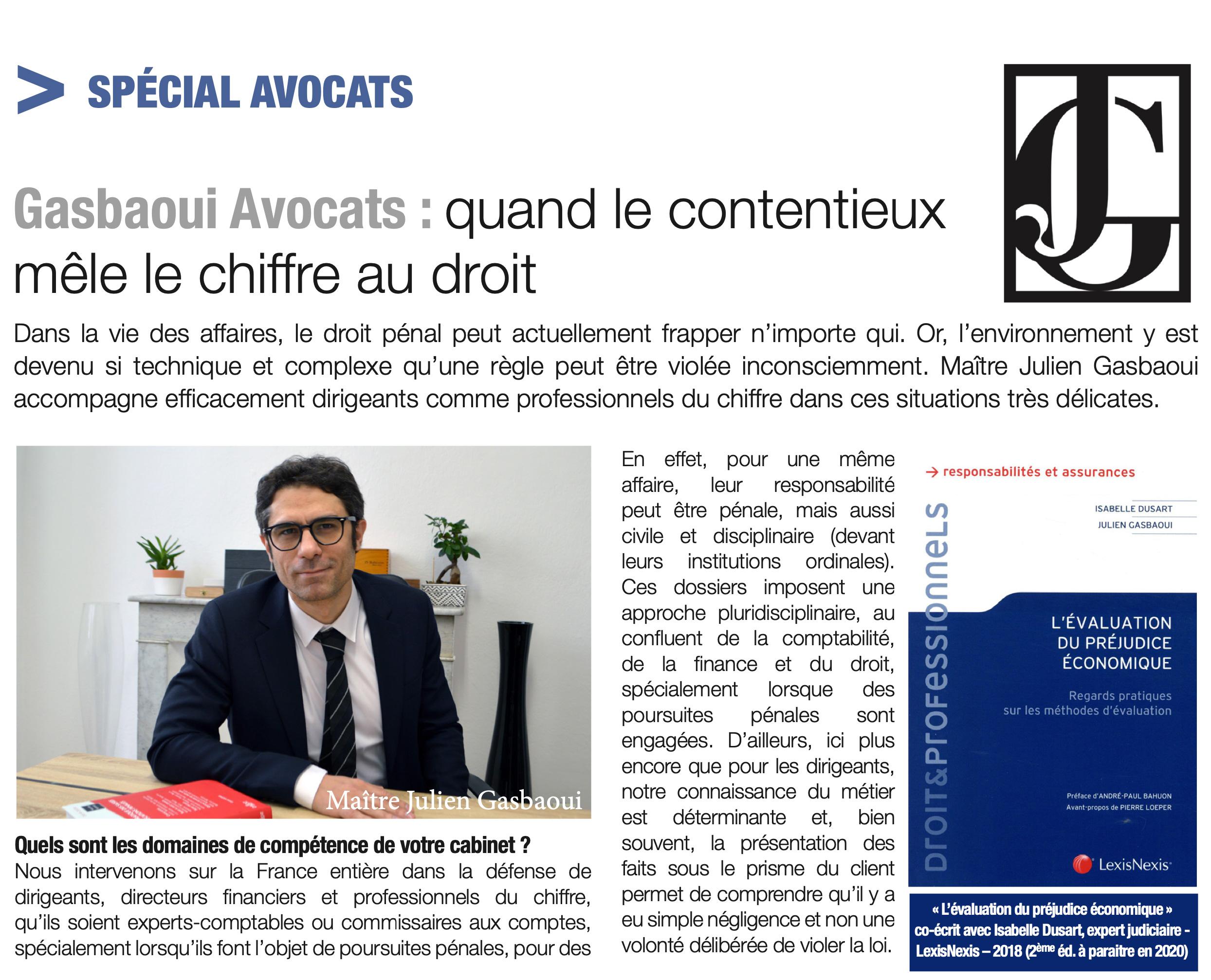 Gasbaoui Avocats - Quand le contentieux mêle le chiffre au droit